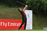 Robert Rock (ENG) on the 5th tee during Round 1 of the UBS Hong Kong Open, at Hong Kong golf club, Fanling, Hong Kong. 23/11/2017<br /> Picture: Golffile | Thos Caffrey<br /> <br /> <br /> All photo usage must carry mandatory copyright credit     (&copy; Golffile | Thos Caffrey)