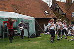 May Day Fair Glam Rock Band The Look and the Kennet Morris men at the Perch and Pike pub South Stoke Berkshire UK 2006