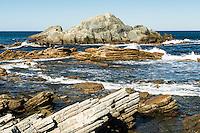 Rock formations at Tora, Wellington Region, Wairarapa, North Island, New Zealand, NZ