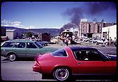 Train leaving Durango at Centennial Celebration - 1981<br /> D&amp;RGW  Durango, CO  1981