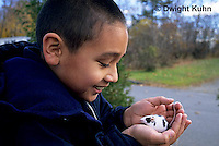 MU60-062z  Domestic Pet Mouse held by child  PRA
