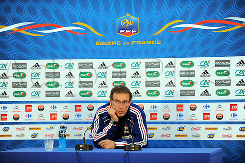 04.10.2010 French International football Press Conference ahead of the Euro Qualifier clash with Romania on October the 9th. Picture shows Laurent Blanc