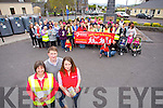 Rosie McGee, Killorglin Tidy Towns, Mike Frank Russell, Kerry Legend Footballer Killorglin, and  Edel Byrne, Irish Heart Foundation and members of the Killorglin community launch the Slí na Sláinte Walking Route Projects on Tuesday