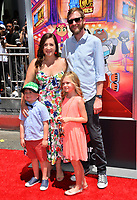 "Aaron Horvath & Family at the premiere for ""Teen Titans Go! to the Movies"" at the TCL Chinese Theatre, Los Angeles, USA 22 July 2018<br /> Picture: Paul Smith/Featureflash/SilverHub 0208 004 5359 sales@silverhubmedia.com"