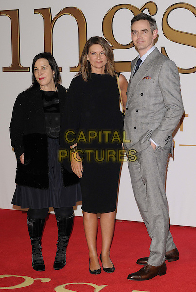 LONDON, ENGLAND - JANUARY 14: Arianne Phillips, Natalie Massenet &amp; guest attend the &quot;Kingsman: The Secret Service&quot; world film premiere, Odeon Leicester Square cinema, Leicester Square, on Wednesday January 14, 2015 in London, England, UK. <br /> CAP/CAN<br /> &copy;CAN/Capital Pictures