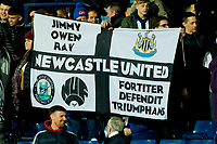 3rd March 2020; The Hawthorns, West Bromwich, West Midlands, England; English FA Cup Football, West Bromwich Albion versus Newcastle United; Newcastle United fans hold up a flag after the final whistle
