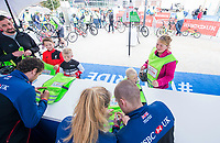 Picture by Allan McKenzie/SWpix.com - 24/09/2017 - Cycling - HSBC UK City Ride Liverpool - Albert Dock, Liverpool, England - Neil & Lora Fachie sign autographs.