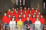 Holy Cross NS students who were confirmed in St Mary's Cathedral, Killarney on Friday front row l-r: Alice O'Donnell, Ursulla Coffey Principal, Bishop Bill Murphy, Orla O'Sullivan Second row: Aoife Doona, Chloe O'Donoghue, Michelle O'Sullivan, Meaghan O'Callaghan, Ellen McGillicuddy, Emily Leahy, Amy Coffey, Michaela Bruton, Rachel McGowan. Third row: Leah Horgan-Buckley, Natasha Maye, Chloe Enright, Gemma Payne, Adele Myers, Aoife Cronin. Forth row: Clara-Kate Doyle, Michaela O'Driscoll, Christine Leen, Shannon Quilligan, Claire Buckley. Back row: Laura Donnellon, Tereska Kvaske, Treasa Sheehan, Leigh Huggard, Ellie Davies, Mellissa Mangan and Allanah Geary