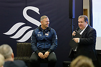 Pictured L-R: Lee Trundle and Kevin Johns.  Thursday 05 December 2019<br /> Re: CBN networking event at the Liberty Stadium, Swansea, Wales, UK.