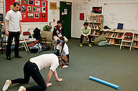 The Harker School - US - Upper School - Global Education - Harker US students are visited by Tamagawa students and participate in an acting class hosted by Mr. Jeffrey Draper...2012-03-16...Photo by Kyle Cavallaro