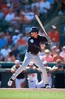 Detroit Tigers center fielder Daniel Woodrow (80) at bat during a Grapefruit League Spring Training game against the Baltimore Orioles on March 3, 2019 at Ed Smith Stadium in Sarasota, Florida.  Baltimore defeated Detroit 7-5.  (Mike Janes/Four Seam Images)