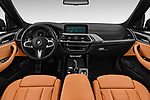 Stock photo of straight dashboard view of a 2019 BMW X3 M40i 5 Door SUV
