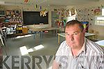 Principal Michael O'Connor in one of the prefabs in Blennerville School on Wednesday.