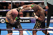 24th March 2018, O2 Arena, London, England; Matchroom Boxing, WBC Silver Heavyweight Title, Dillian Whyte versus Lucas Browne; Dillian Whyte lands the over hand right to Lucas Browne during the early rounds