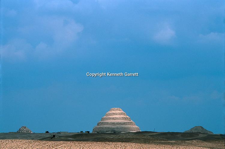 Egypt; Archaeology; Old Kingdom; pyramid; pyramids; Sakkarra; Saqqarra; Step Pyramid; Djoser; Scenic