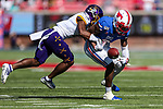 Southern Methodist Mustangs wide receiver James Proche (3) in action during the game between the East Caroline Pirates  and the SMU Mustangs at the Gerald J. Ford Stadium in Fort Worth, Texas.