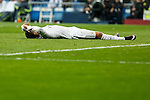 Real Madrid´s Cristiano Ronaldo regrets missing a goal chance during 2015/16 La Liga match between Real Madrid and Espanyol at Santiago Bernabeu stadium in Madrid, Spain. January 31, 2016. (ALTERPHOTOS/Victor Blanco)