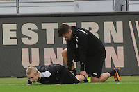 Tranquillo Barnetta und Sebastian Rode (Eintracht) - Eintracht Europa League PK