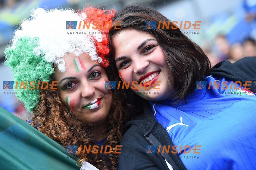 Tifose Italia Fans Italy <br /> Paris 27-06-2016 Stade Saint Denis <br /> Football Euro2016 Italy - Spain / Italia - Spagna Round of 16 / Ottavi di finale<br /> Foto Massimo Insabato / Insidefoto