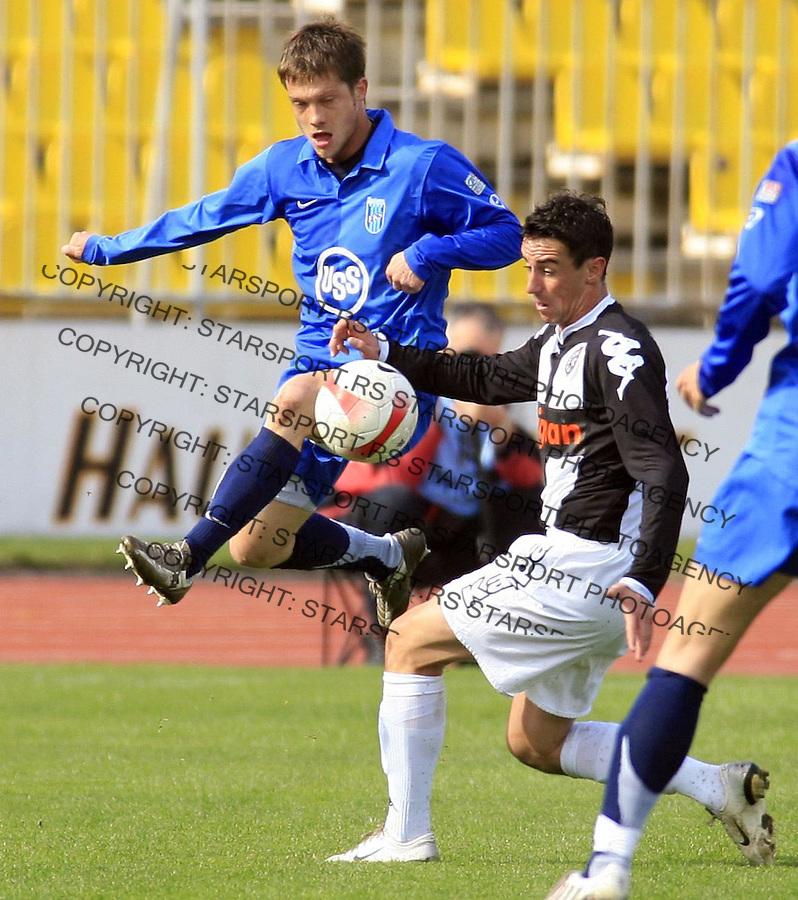 Sport Fudbal Soccer Meridian Super Prva Liga Partizan Beograd Belgrade Serbia Smederevo Lazic Djordje 8.3.2008. (credit image © photo: Pedja Milosavljevic)
