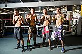 USA, Oahu, Hawaii, professional boxers and MMA Mixed Martial Arts Ultimate fighter Lowen Tynanes at his training gym in Honolulu