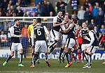 Louis Longridge celebrates his goal