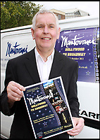 BNPS.co.uk (01202 558833)<br /> Pic: HattieMiles/BNPS<br /> <br /> Paul Barrett - Mantovani fan, pictured with the poster advertising the show in 2011.<br /> <br /> A retired businessman has spent £26,000 laying on his very own a show in tribute to his hero - the musical maestro Annunzio Paolo Mantovani.<br /> <br /> Paul Barrett, 72, will perform in a 48-piece orchestra he has hired for the performance that he is prepared to make a loss of thousands of pounds on.<br /> <br /> Mr Barrett said he plans to do 'everything bar conducting' in the musical extravaganza being hosted at the Bournemouth Pavilion Theatre in Dorset.