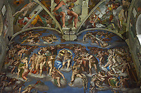 Michael McCollum.6/23/11.Part of the ceiling of Sistine Chapel painted by Michelangelo, is the best-known chapel in the Apostolic Palace, the official residence of the Pope in Vatican City.