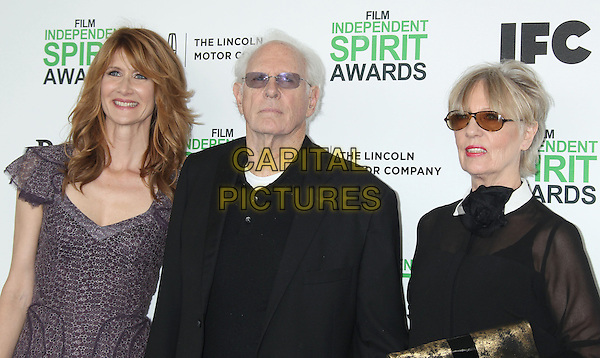 1 March 2014 - Santa Monica, California - Laura Dern, Bruce Dern, Andrea Beckett. 2014 Film Independent Spirit Awards held at Santa Monica Beach. <br /> CAP/ADM/RE<br /> &copy;Russ Elliot/AdMedia/Capital Pictures