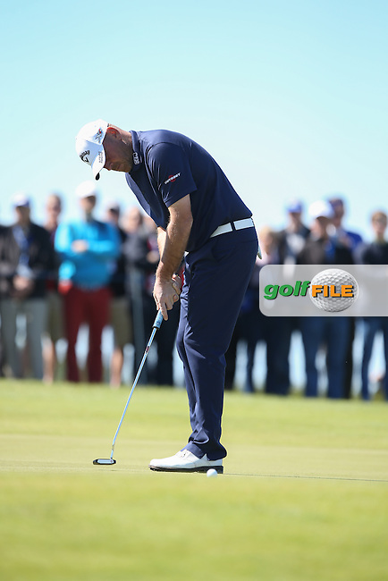 Thomas Bjorn (DEN) drops shots on the 3rd during Round Two of the 2015 Nordea Masters at the PGA Sweden National, Bara, Malmo, Sweden. 05/06/2015. Picture David Lloyd | www.golffile.ie