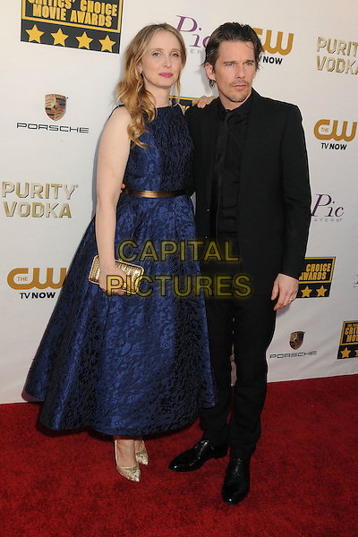 LOS ANGELES, CA - JANUARY 16 - Julie Delpy, Ethan Hawke. 19th Annual Critics' Choice Movie Awards held at Barker Hangar.<br /> CAP/ADM/BP<br /> &copy;Byron Purvis/AdMedia/Capital Pictures