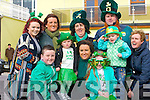 DRESSED: Dressed up in their St Patrick's Day outfitds at the Ballyheigue St Patrick's Day Parade. were, Daniel O'Loughlin, Caoimhe Duffy, Emily Hobbert, Casey Ryle, Teresa Hobbert, Megan Casey Lawlor, Bernice O'Loughlin, Marie Ryle, Liz Duffy and Paul Hobbert.