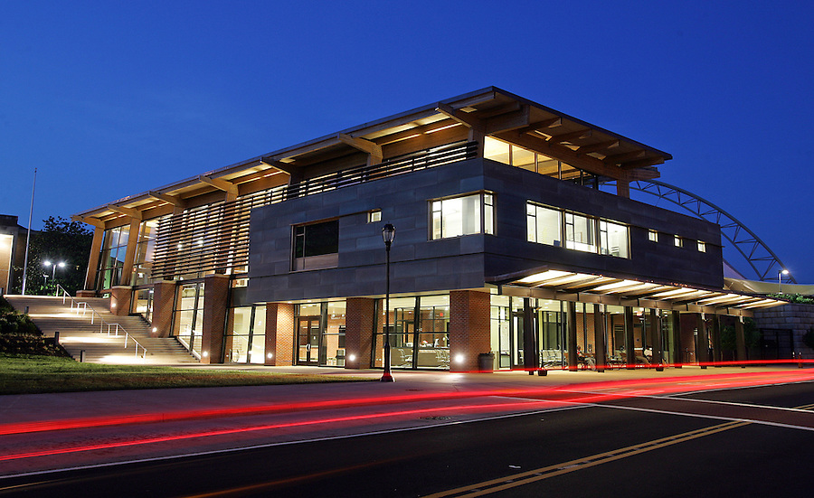 Transit center bus station in downtown Charlottesville, Va. Credit Image: © Andrew Shurtleff