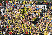 Columbus crew fans celebrate during MLS Cup 2008. Columbus Crew defeated the New York Red Bulls, 3-1, Sunday, November 23, 2008. Photo by John Todd/isiphotos.com