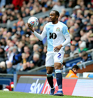 Blackburn Rovers' Ryan Nyambe prepares to take a throw-in<br /> <br /> Photographer Rich Linley/CameraSport<br /> <br /> The EFL Sky Bet Championship - Blackburn Rovers v Preston North End - Saturday 9th March 2019 - Ewood Park - Blackburn<br /> <br /> World Copyright © 2019 CameraSport. All rights reserved. 43 Linden Ave. Countesthorpe. Leicester. England. LE8 5PG - Tel: +44 (0) 116 277 4147 - admin@camerasport.com - www.camerasport.com
