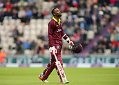 29th September 2017, Ageas Bowl, Southampton, England; One Day International Series, England versus West Indies; West Indies Kyle Hope looks dejected as he leaves the field, after being caught and bowled by Liam Plunkett of England