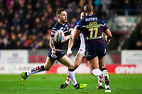 Picture by Alex Whitehead/SWpix.com - 16/03/2018 - Rugby League - Betfred Super League - St Helens v Leeds Rhinos - Totally Wicked Stadium, St Helens, England - Leeds' Richie Myler and Jamie Jones-Buchanan.