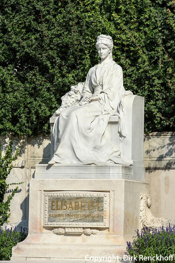 Sisi-Denkmal im Volksgarten in Wien, &Ouml;sterreich, UNESCO-Weltkulturerbe<br /> Sisi-Monumen in Volksgarten, Vienna, Austria, world heritage