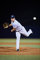 Tampa Tarpons relief pitcher Trevor Lane (47) delivers a pitch during a game against the Daytona Tortugas on April 18, 2018 at George M. Steinbrenner Field in Tampa, Florida.  Tampa defeated Daytona 12-0.  (Mike Janes/Four Seam Images)