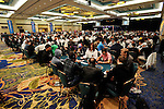 A view of the poker room for the Main Event of the 2010 PCA.