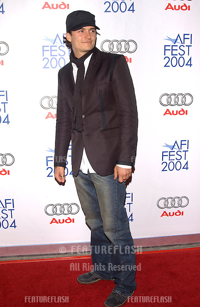 Nov 5, 2004; Los Angeles, CA, USA;  Actor ORLANDO BLOOM at the USA premiere of Beyond the Sea. The movie was the opening night film for the 2004 AFI Fest.