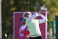 Jodi Ewart Shadoff (ENG) tees off the 6th tee during Thursday's Round 1 of The Evian Championship 2018, held at the Evian Resort Golf Club, Evian-les-Bains, France. 13th September 2018.<br /> Picture: Eoin Clarke | Golffile<br /> <br /> <br /> All photos usage must carry mandatory copyright credit (© Golffile | Eoin Clarke)