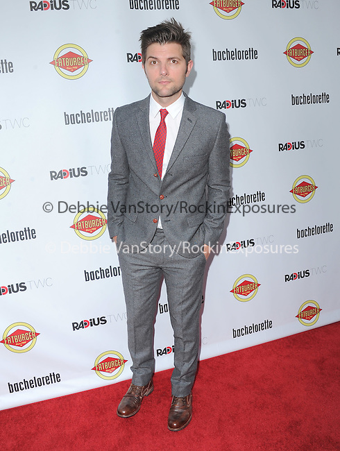 Adam Scott attends The Premiere of Bachelorette at The Arclight Theatre in Hollywood, California on August 23,2012                                                                               © 2012 DVS / Hollywood Press Agency