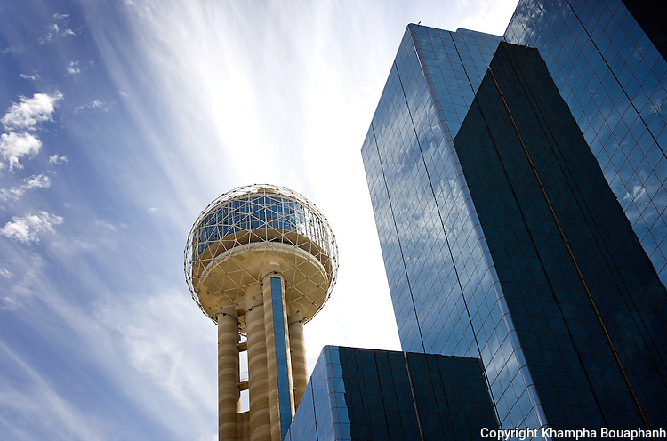 Reunion Tower in downtown Dallas, Texas, photographed on September 18, 2008.  (photo by Khampha Bouaphanh)