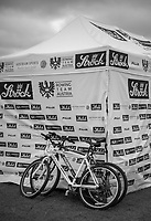 Glasgow, Scotland, Friday, 4th  August 2018, Coaches Bikes, leaning against the, Austrian Team Tent, at The European Games, Rowing, Strathclyde Park, North Lanarkshire, © Peter SPURRIER/Alamy Live News