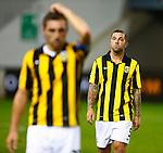 Nederland, Arnhem, 6 oktober 2012.Eredivisie .Seizoen 2012-2013.Vitesse-SC Heerenveen (3-3).Theo Janssen (r.) van Vitesse baalt na afloop van de wedstrijd