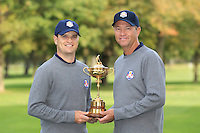 Zach Johnson and David Love III at The USA Team Picture for the Ryder Cup 2012, Medinah Country Club,Medinah, Illinois,USA.Picture: Fran Caffrey/www.Golffile.ie.