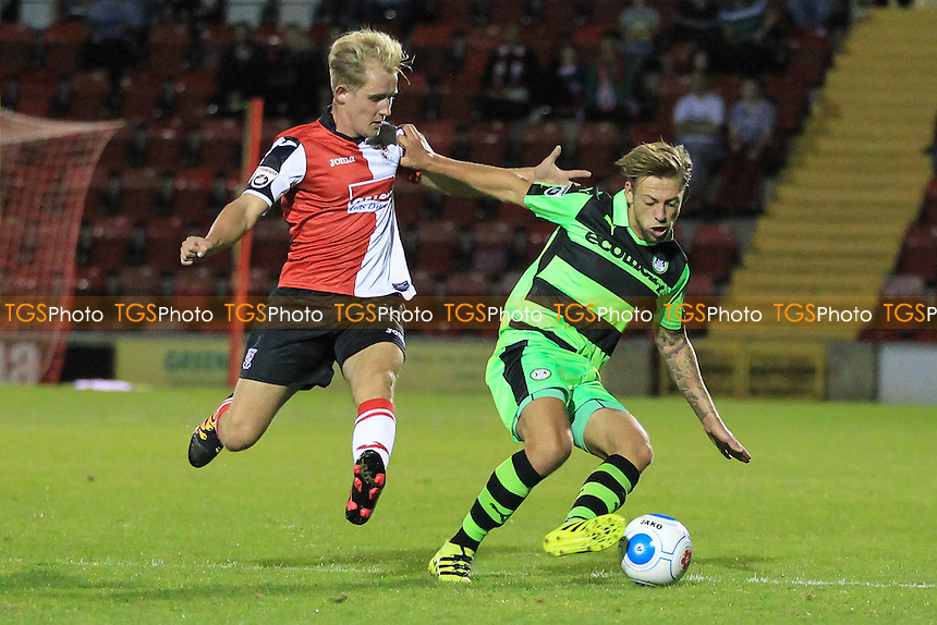 Ben Jefford of Forest Green Rovers and Charlie Penny of Woking during Woking vs Forest Green Rovers, Vanarama National League Football at The Laithwaite Community Stadium on 16th August 2016