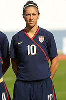 Carli Lloyd. The USWNT defeated Iceland (2-0) at Vila Real Sto. Antonio in their opener of the 2010 Algarve Cup on February 24, 2010.