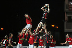 Robert Sidoli wins the lineout ball for Dragons..RaboDirect Pro12.Dragons v Munster.03.03.12.©STEVE POPE